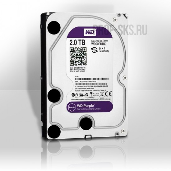 Жесткий диск Western Digital WD Purple WD20PURX 2TB