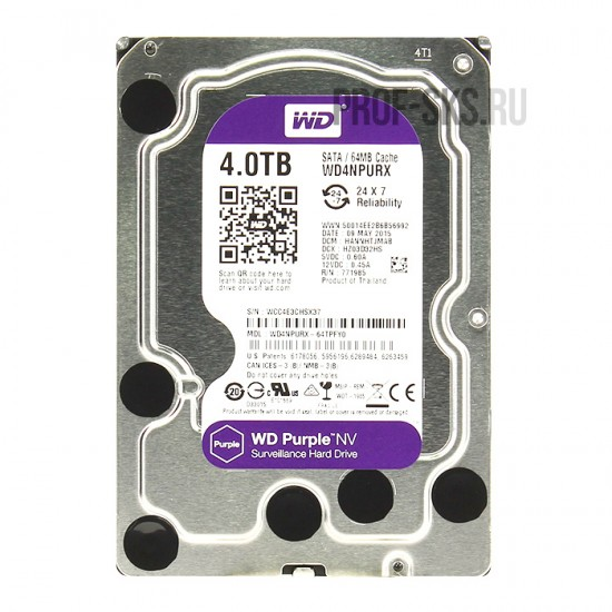 Жесткий диск Western Digital 4TB WD Purple NV WD4NPURX