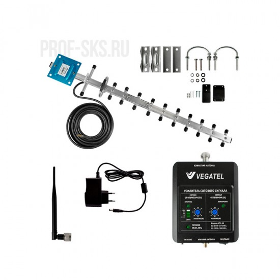 Комплект усиления сигнала VEGATEL VT2-3G-kit (LED)